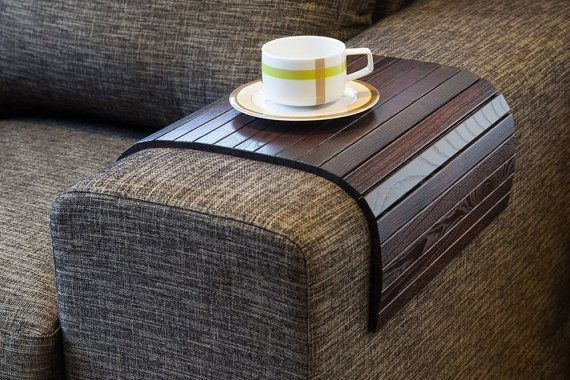Sofa Tray Table brown, TV tray, Wooden Coffee table, Lap desk for small spaces on Etsy, $56.00