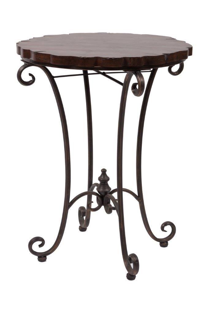 Метки: Журнальный стол, Круглый стол.              Материал: Металл, Дерево.              Бренд: DG Home.              Стили: Классика и неоклассика.              Цвета: Темно-коричневый.