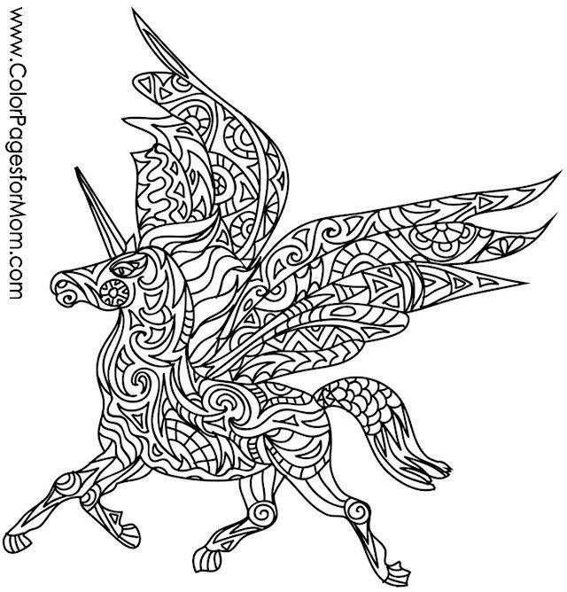 Unicorn Coloring Page Coloringpage Adultcoloringpage