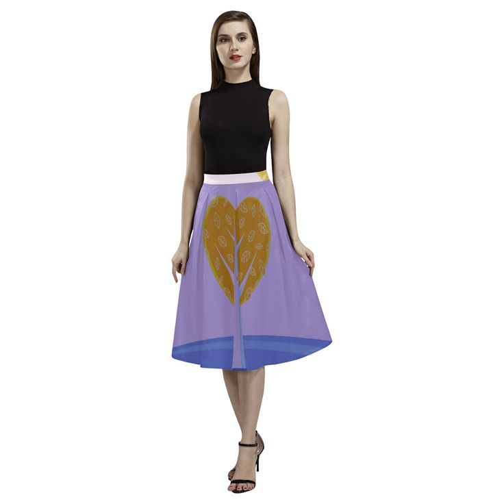 Ladies Long skirt : Purple love edition. Design shop. Aoede Crepe Skirt(Model D16).