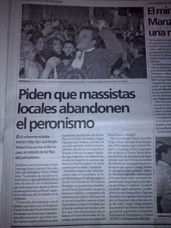 """#peronismo SI; #frentismo """"renovador"""": NO!"""