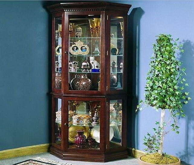 15 best traditional living room furniture images on - Glass corner shelf for living room ...