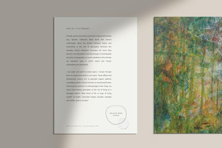Minimalist artist statement template design printed