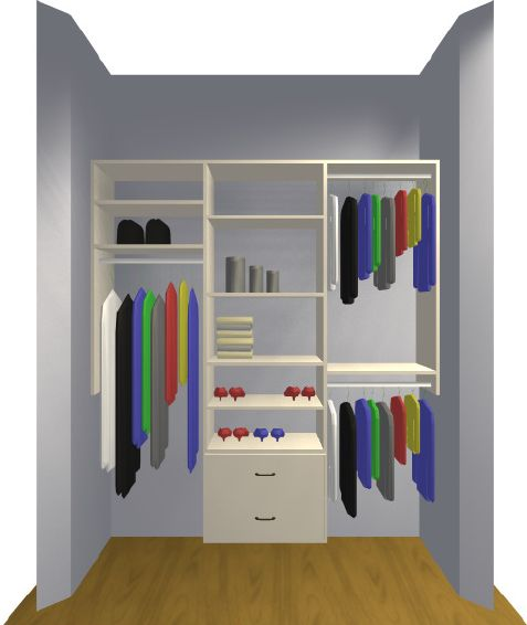 closet organizers do it yourself | Guest Closet Organizers | Closet Planning | Closet Pages