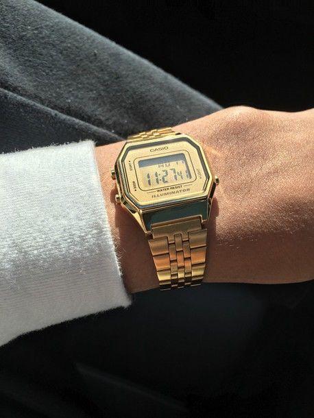 jewels Casio Fizzm gold watch