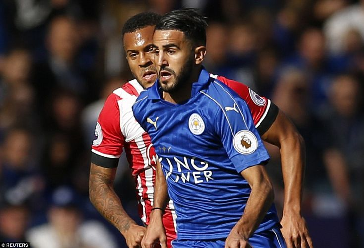 Ryan Bertrand grimaces as he struggles to keep up with Mahrez storming down the wing at the King Power Stadium