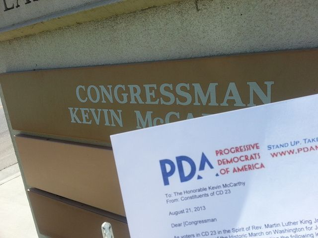 Educate Congress letter drop Rep. Kevin McCarthy (CA-23) by Cheryl Tierce
