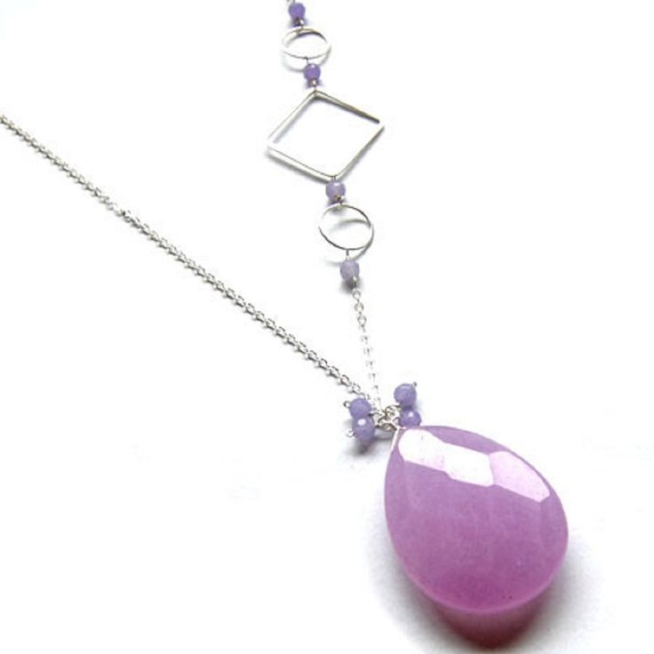 Lavender Jade Necklace: