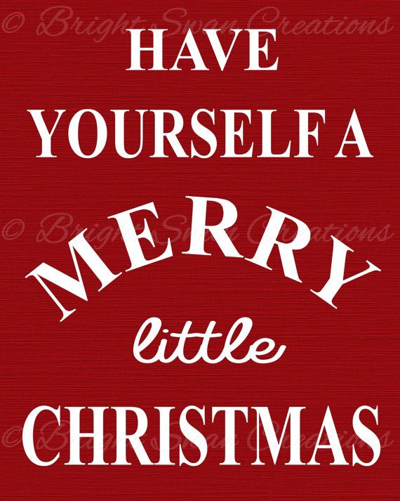 """Instant download - Have Yourself A Merry Little Christmas - DIY 8x10"""" printable, home decor ..."""