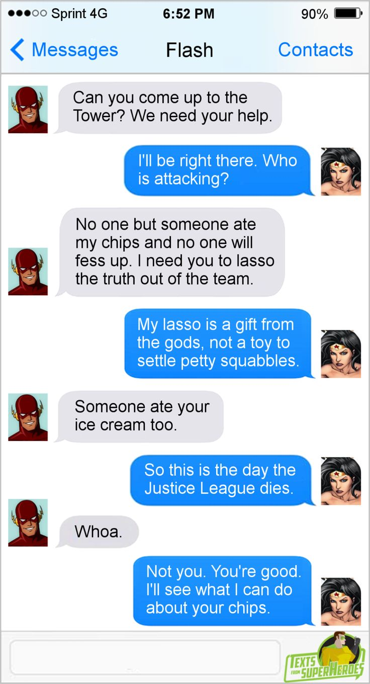 Texts From Superheroes Facebook | Twitter | Patreon