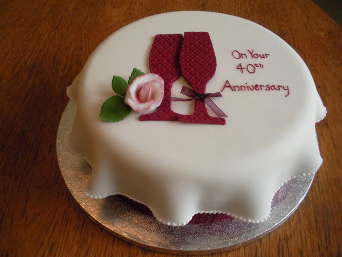 Best ruby anniversary cake ideas images cake