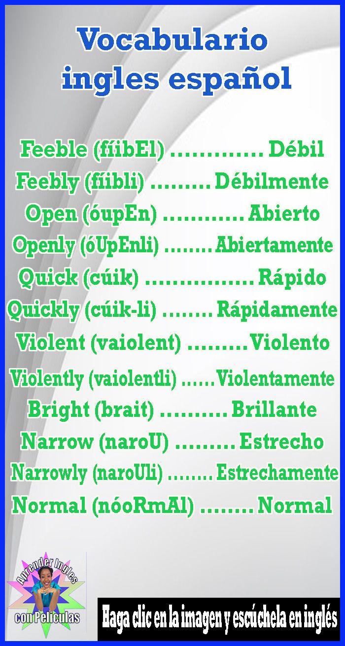 vocabulario basico de ingles español pdf