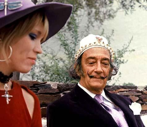 Salvador Dali with Amanda Lear