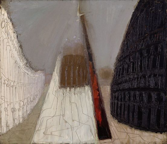 William Congdon Piazza San Marco #15, 1957 Oil on board, 120.5 x 139.8 cm Peggy Guggenheim Collection, Venice 76.2553 PG 180 © The William G. Congdon Foundation, Milan