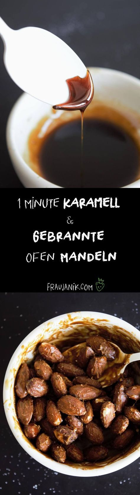 Gebrannte Mandeln aus dem Ofen- mit Kokosblütenzuckerkaramell, weniger süß & gesünder... #gebranntemandeln #mandeln #weihnachten #karamell #kokosblütenzucker #oktoberfest #gesund