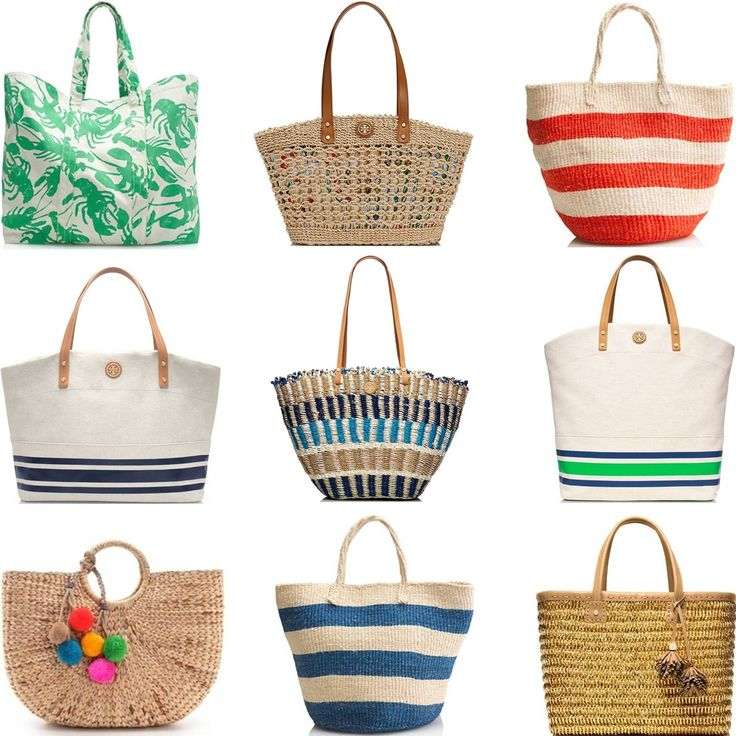 166 best Chic Beach Bags! images on Pinterest