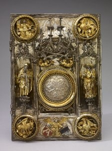 A1008   Anonymous   Angels, Saints and the Four Evangelists   Book-cover ca. 1506 (The Book of the Gospels)   Silver-gilt 28.9 x 20.7 cm   The British Museum   London, UK   Inv. nr. WB.88
