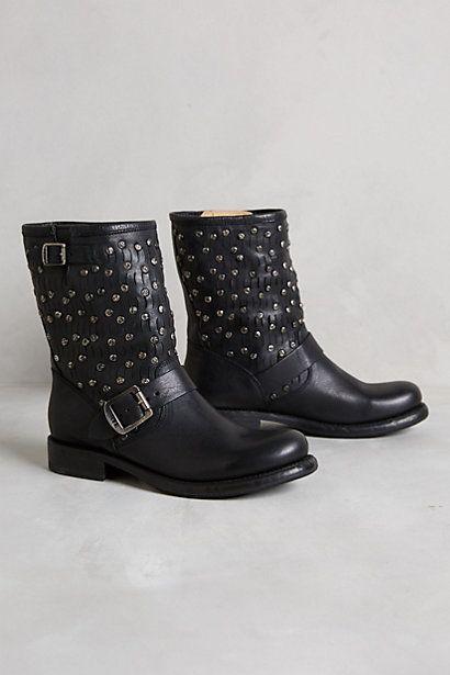 Frye Jenna Cut Stud Short Boots #anthropologie