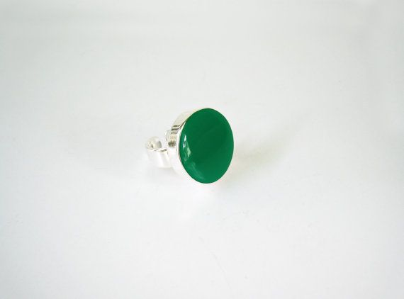 Green resin ring emerald green ring green solitaire ring by xroma