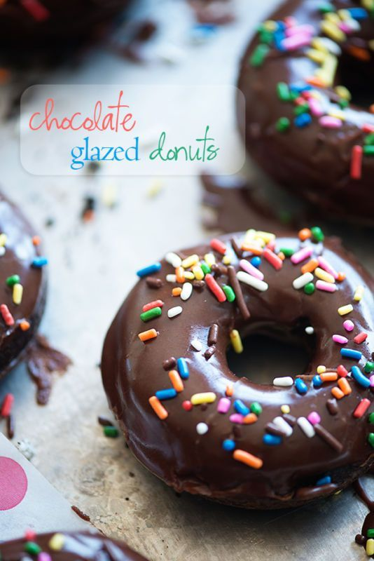 Rich chocolate donuts that are baked instead of fried! We love these on busy mornings - especially the sprinkles!