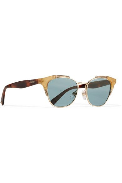 en de dorado sol oro Gafas y tono de acetato Valentino wSaEq