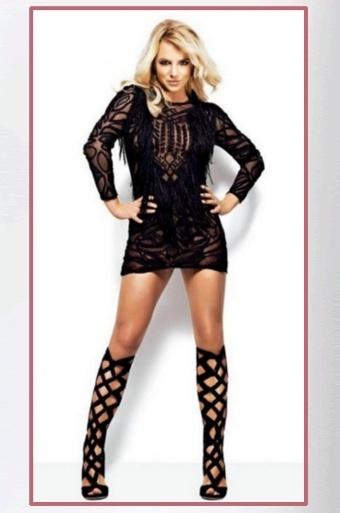 Black Lace Dress Britney Spears 57