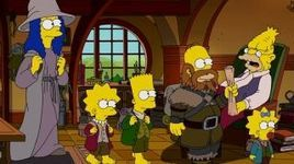 The Couch Gag - Simpsons Hobbit - meets Gollum on way home   1min39sec  http://simpsons.wikia.com/wiki/Bart_vs._Thanksgiving/Appearances?file=The_Simpsons_2