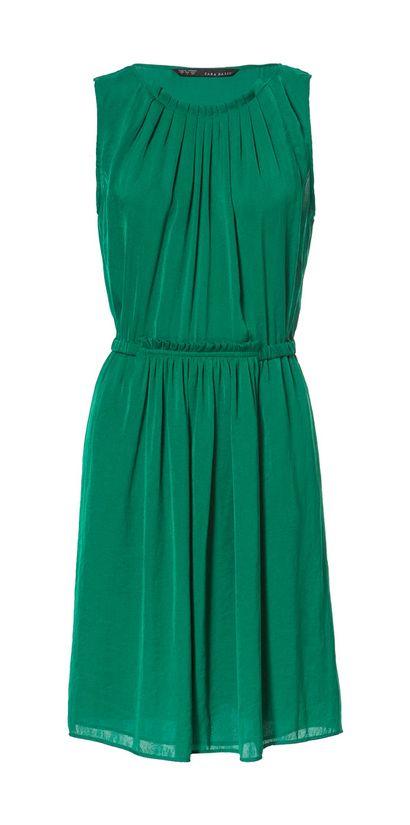 Sukienka koktajlowa - butelkowa zieleń - Zara