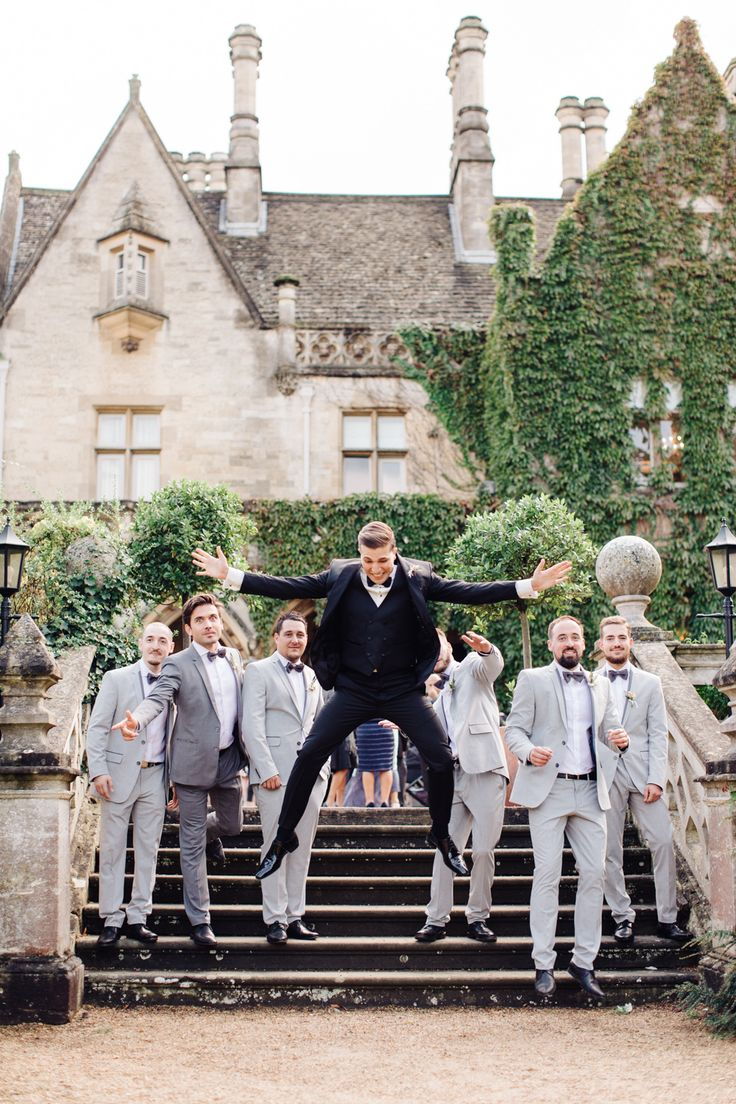 groom and groomsmen - photo by M&J Photography http://ruffledblog.com/english-gardenn-wedding-with-mediterranean-accents