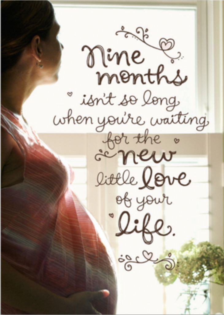 Wish the mom-to-be in your life a wonderful pregnancy with this heart-felt card from Hallmark. She'll feel so special knowing you're thinking about her during this wonderful and joyous time!