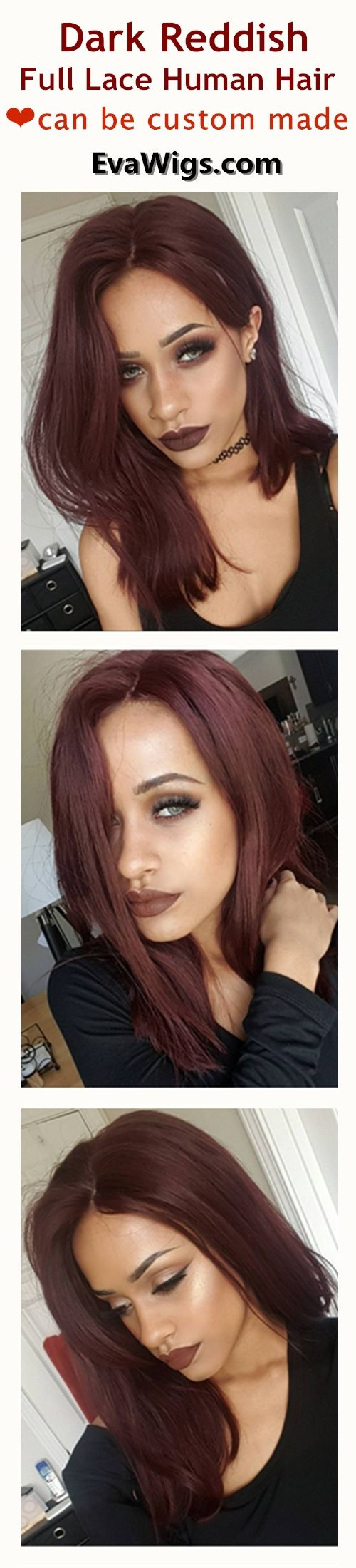 HO! Baby,have a look! Just get this dark reddish human hair wig instead of dying it -convenient&harmless.Check it at EvaWigs.com