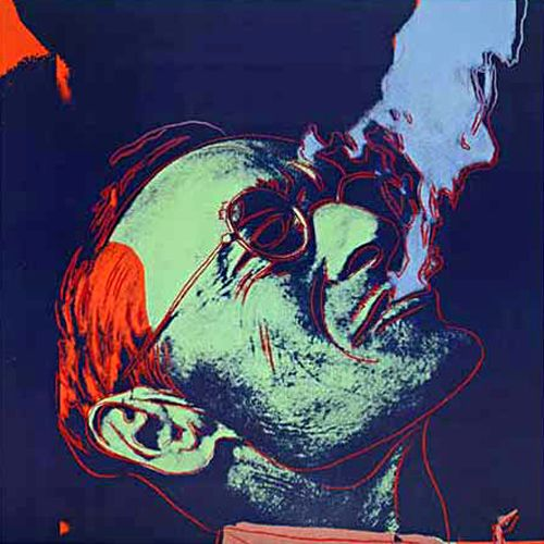 """Eternity is a mere moment, just long enough for a joke."" —Hermann Hesse (Portrait by Andy Warhol)"