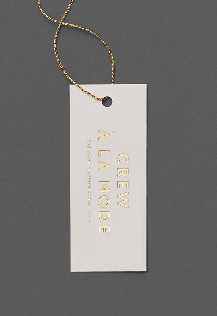 Crew à la Mode – Luxury / Branding / Identity / Logo / Design / Swing Tag / Gold / Foil / Fashion