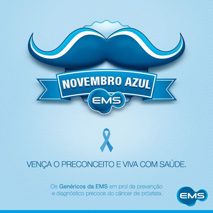 A EMS também entrou no novembro azul, o mês da conscientização e prevenção ao câncer de próstata! Vença o preconceito e viva com saúde. #novembroazul