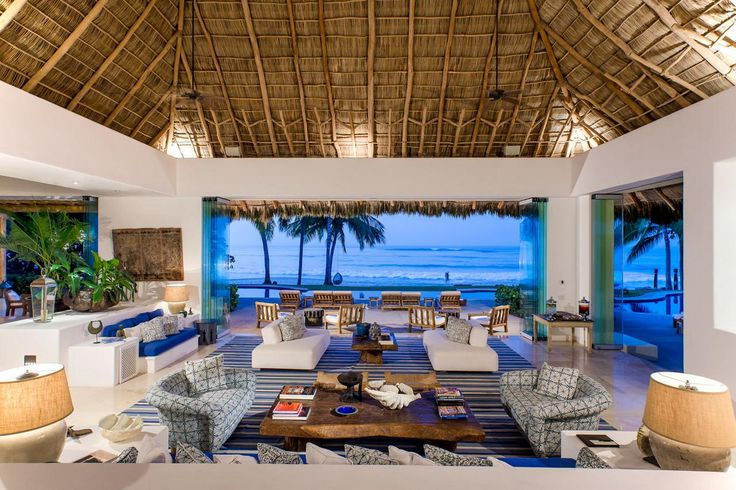 Kylie Jenner, 19, and boyfriend Tyga, 27, have been staying at this killer Punta Mita estate while vacationing in Mexico. The 12-bedroom, 13-bathroom beachfront home, named Casa Aramara, was built by Girls Gone Wild founder Joe Francis and is available to book on Home Away for an average of $17,000 per night.   The massive house boasts a big, beachfront pool and open-air living room, gorgeous thatched roofs, plenty of indoor and outdoor dining spaces, and fully stocked bedrooms. Casa Aramara…