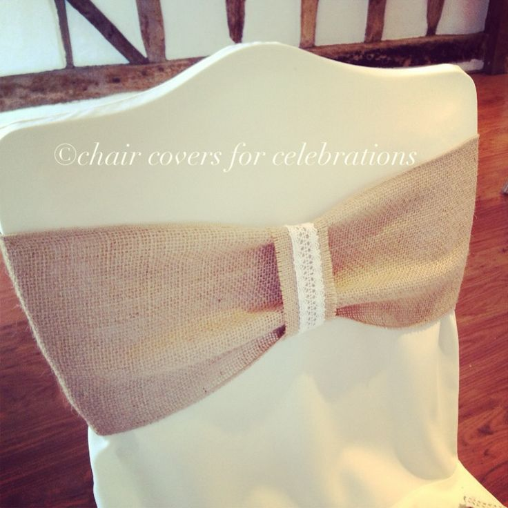 Hessian Chair Sashes | Burlap Chair Sash