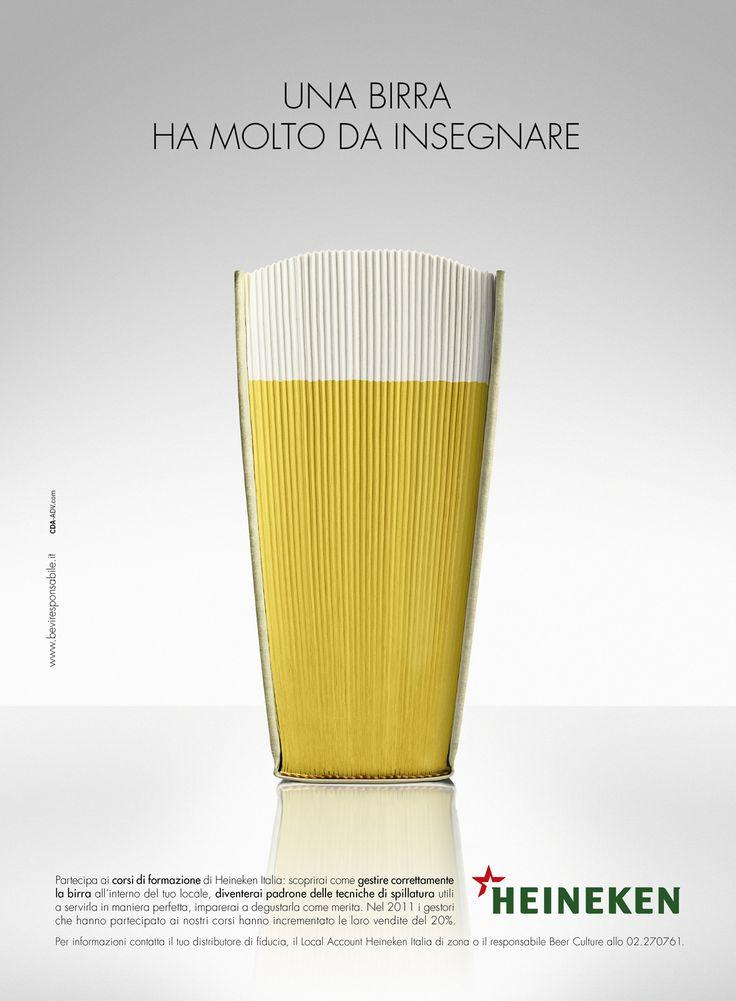 Heineken - Book | #ads #marketing #creative #werbung #print #poster #advertising #campaign < found on www.creativecriminals.com pinned by www.BlickeDeeler.de | Follow us on www.facebook.com/blickedeeler