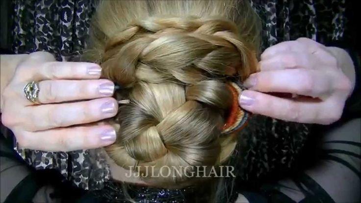 Single Braid Bun with Hair Fork-Hair floor length-(experimental video) HD