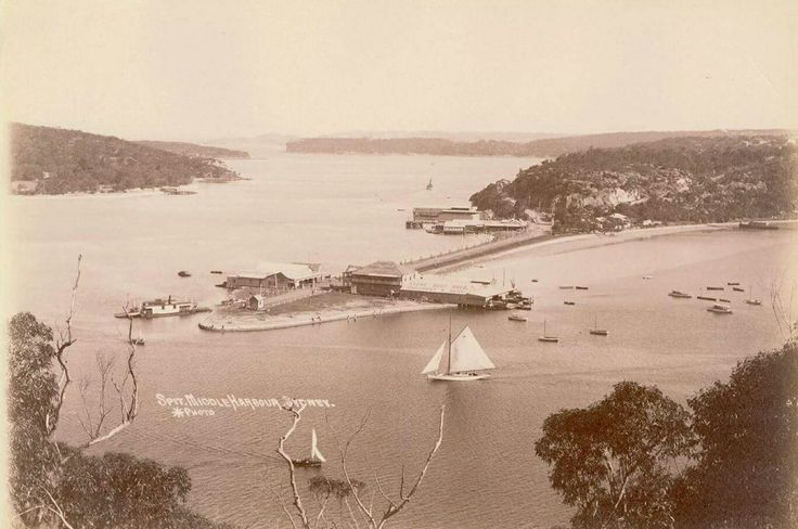 The Spit,Middle Harbour in the Northern Beaches of Sydney in the early 1900s.