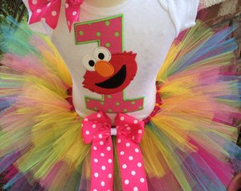 Elmo and Friends Second Birthday Tutu Outfit by LittleKeikiBouTiki