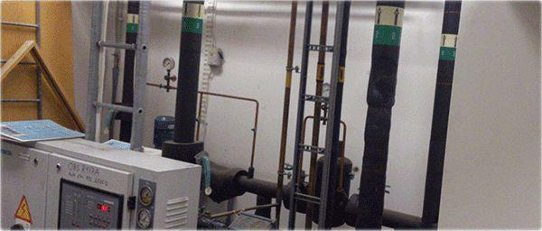 Kylsystem i fastighet rengort av CleanSys