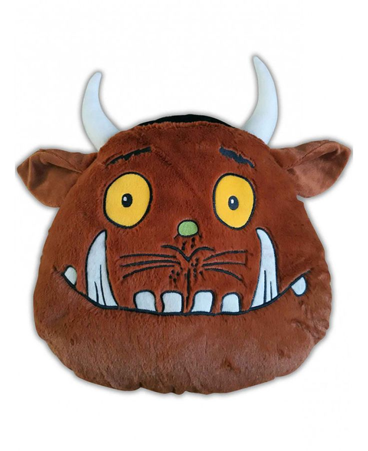 This Gruffalo Head Shaped Cushion is a great accompaniment to your Gruffalo duvet cover and features embroidered detailing and 3D horns and ears. Free UK delivery available