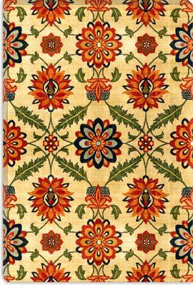 Velvet Silk Carpet India Mughal 17th Century Copy Islamic Art Canvas Art Print