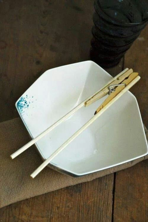 Helping kids learn to eat with chopsticks.