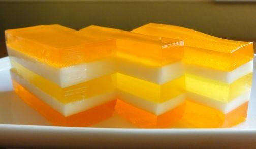 """Hawaii Sunrise Jello"" - made with Hawaiian Sun passion orange and pineapple orange nectar and orange and pineapple jello. So Hawaii-kine!"