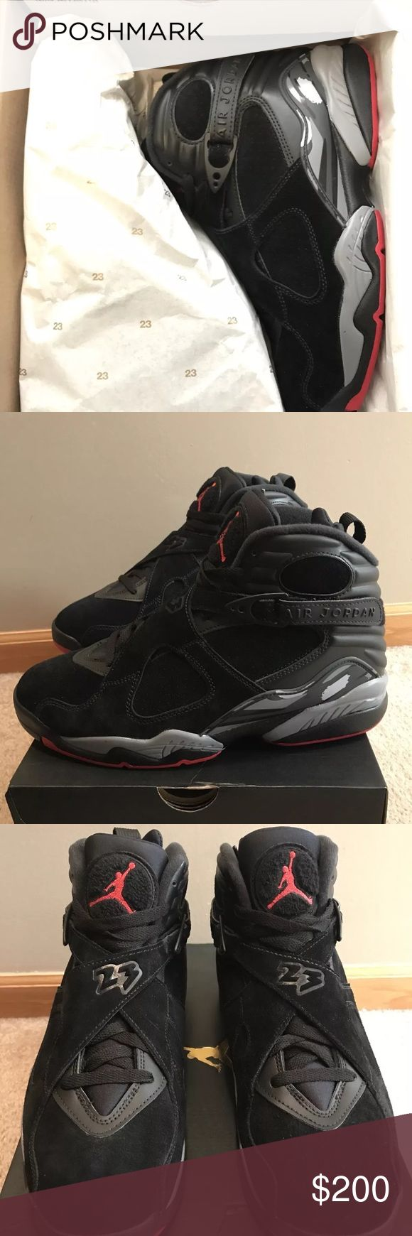 Nike Air Jordan VIII Retro 8 Cement 2017 OG BRED Worn once, in good condition  Size 9  100% Authenic Comes With Box Jordan Shoes Sneakers