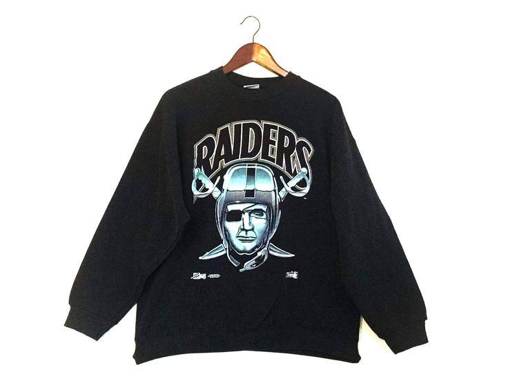 Vintage 1993 Oakland Raiders crew sweatshirt // retro Oakland Raiders NFL sweatshirt by streetstyler on Etsy https://www.etsy.com/listing/583307761/vintage-1993-oakland-raiders-crew