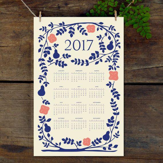 2019 wall calendar 11x17 year at a glance calendar 2019 folk art