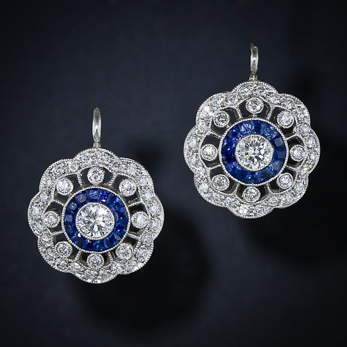 @April Johnson: Antique Earrings, Antiques Jewelry, Style, Diamond, Sapphire Earrings, Engagement Ring, Wedding Earrings, Earrings Rmt172, Blue Earrings