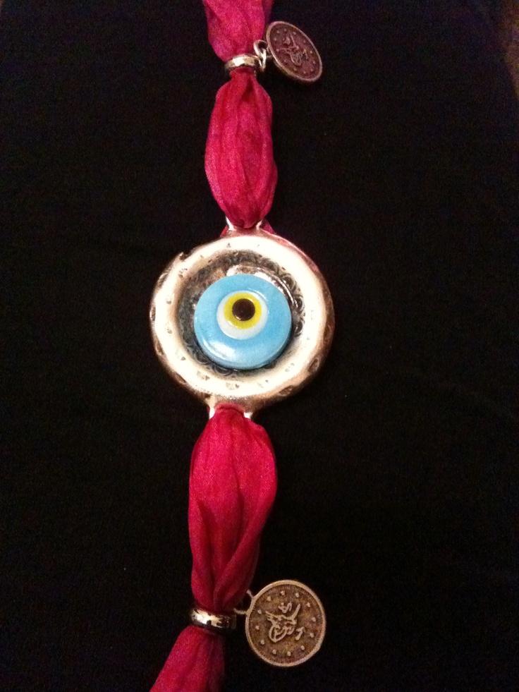 Mavi Bracelet with Silk Band